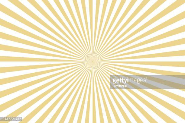 sunbeams: gold rays background - line stock illustrations