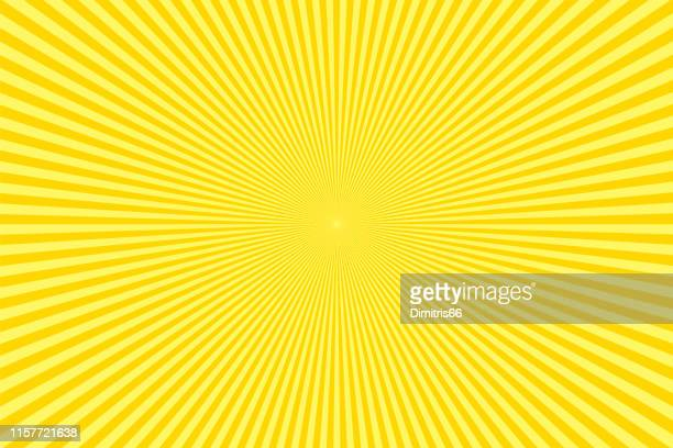 sunbeams: yellow rays background - comic book stock illustrations