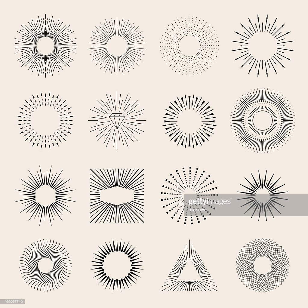 Sunburst elements : Stock Illustration