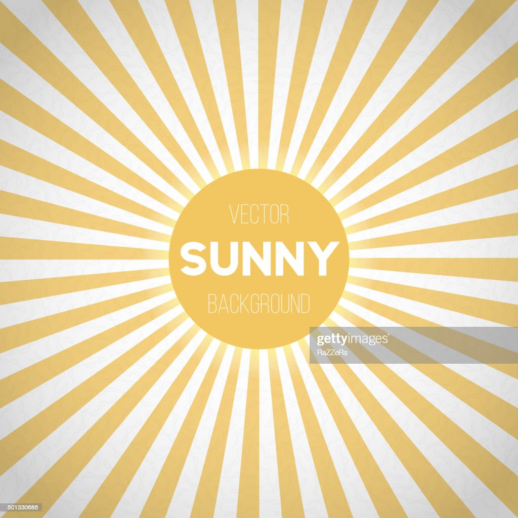 Sunburst Vector EPS10 Background. Sunny Stripes Vector