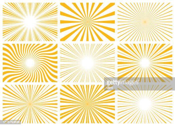stockillustraties, clipart, cartoons en iconen met sunburst - lichtvlek
