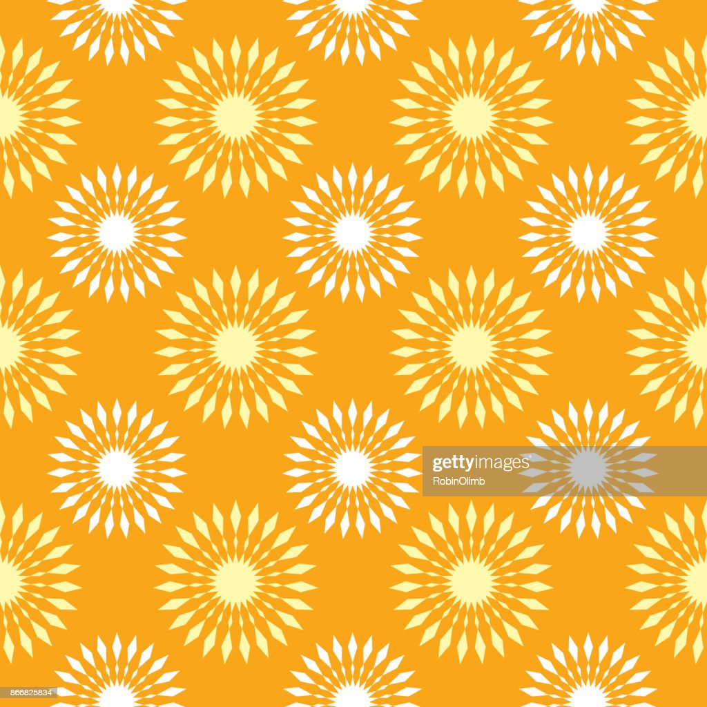 Sunbursts Seamless Pattern