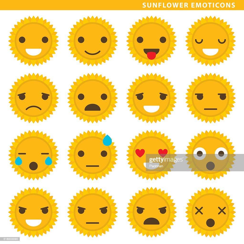 Sunflower emoticons