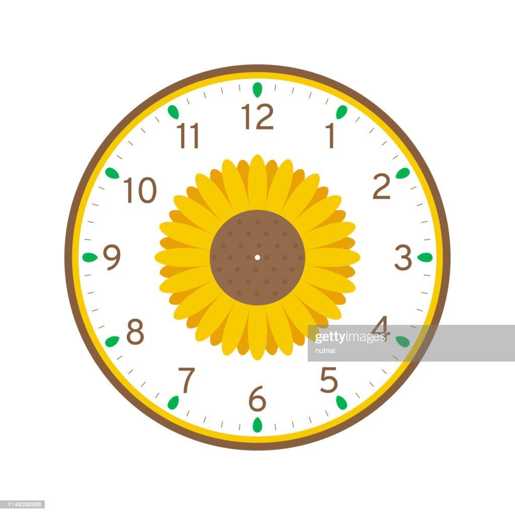 Sunflower Printable Clock Face Template