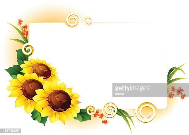 sunflowers - sunflower stock illustrations, clip art, cartoons, & icons