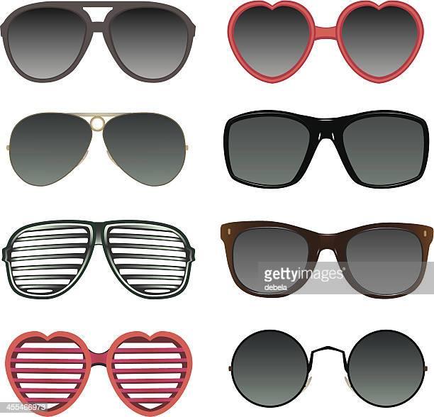 sunglasses collection - sunglasses stock illustrations