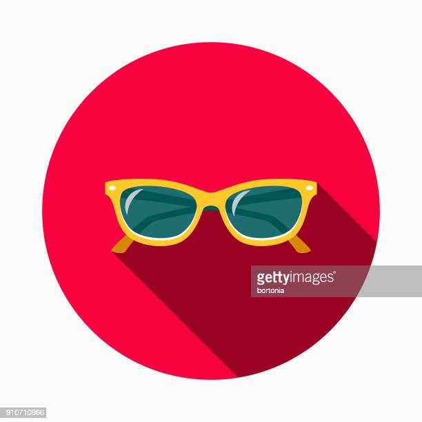sunglasses flat design bbq icon with side shadow - sunglasses stock illustrations