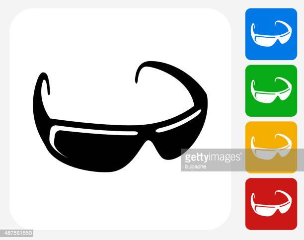 Sunglasses Icon Flat Graphic Design