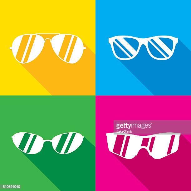 Sunglasses Icon Silhouettes Set
