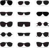 Sunglasses Icon Silhouettes