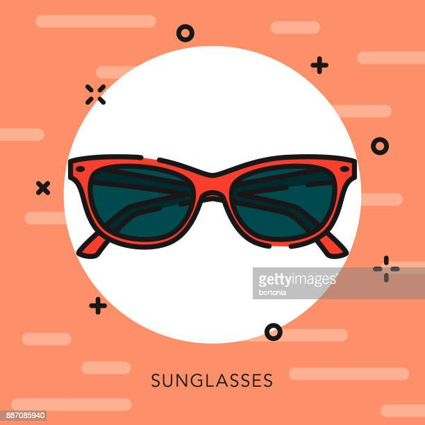 sunglasses open outline music & entertainment icon - sunglasses stock illustrations, clip art, cartoons, & icons