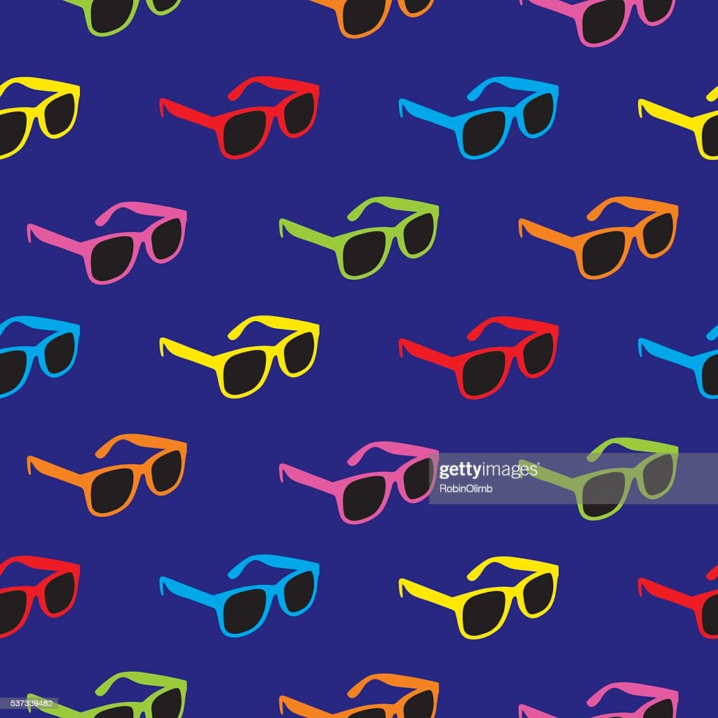 Sunglasses Pattern : stock vector