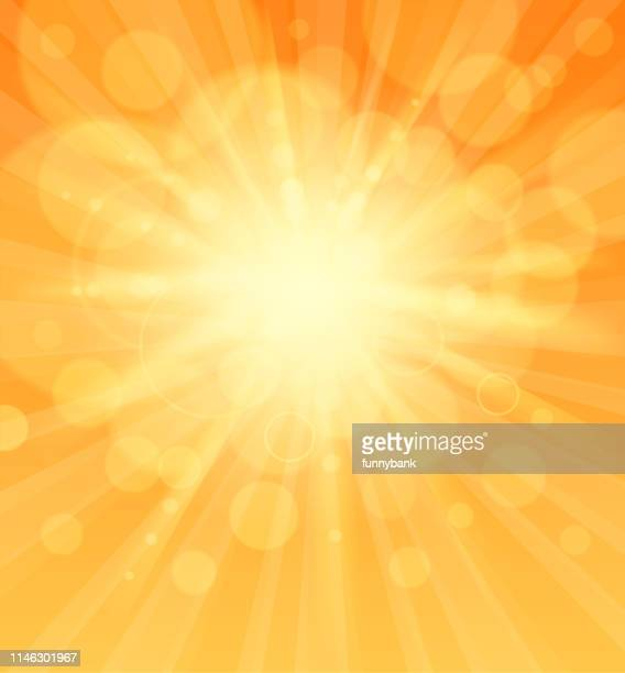 sunlight sign - bright stock illustrations