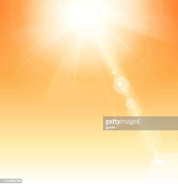 illustrazioni stock, clip art, cartoni animati e icone di tendenza di luce solare - condizione
