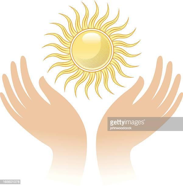Sunny hands.