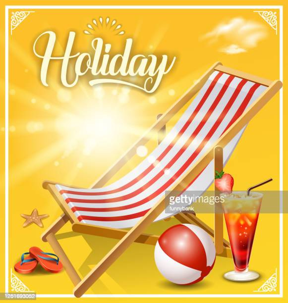 sunny outdoor chair - open toe stock illustrations