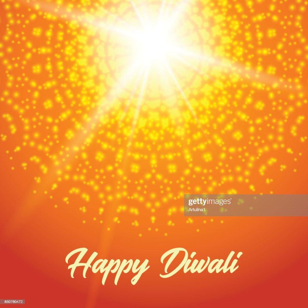Sunny rangoli. Happy diwali greeting card