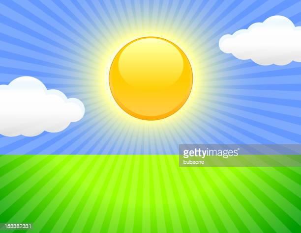 sunny sky background - solar flare stock illustrations, clip art, cartoons, & icons