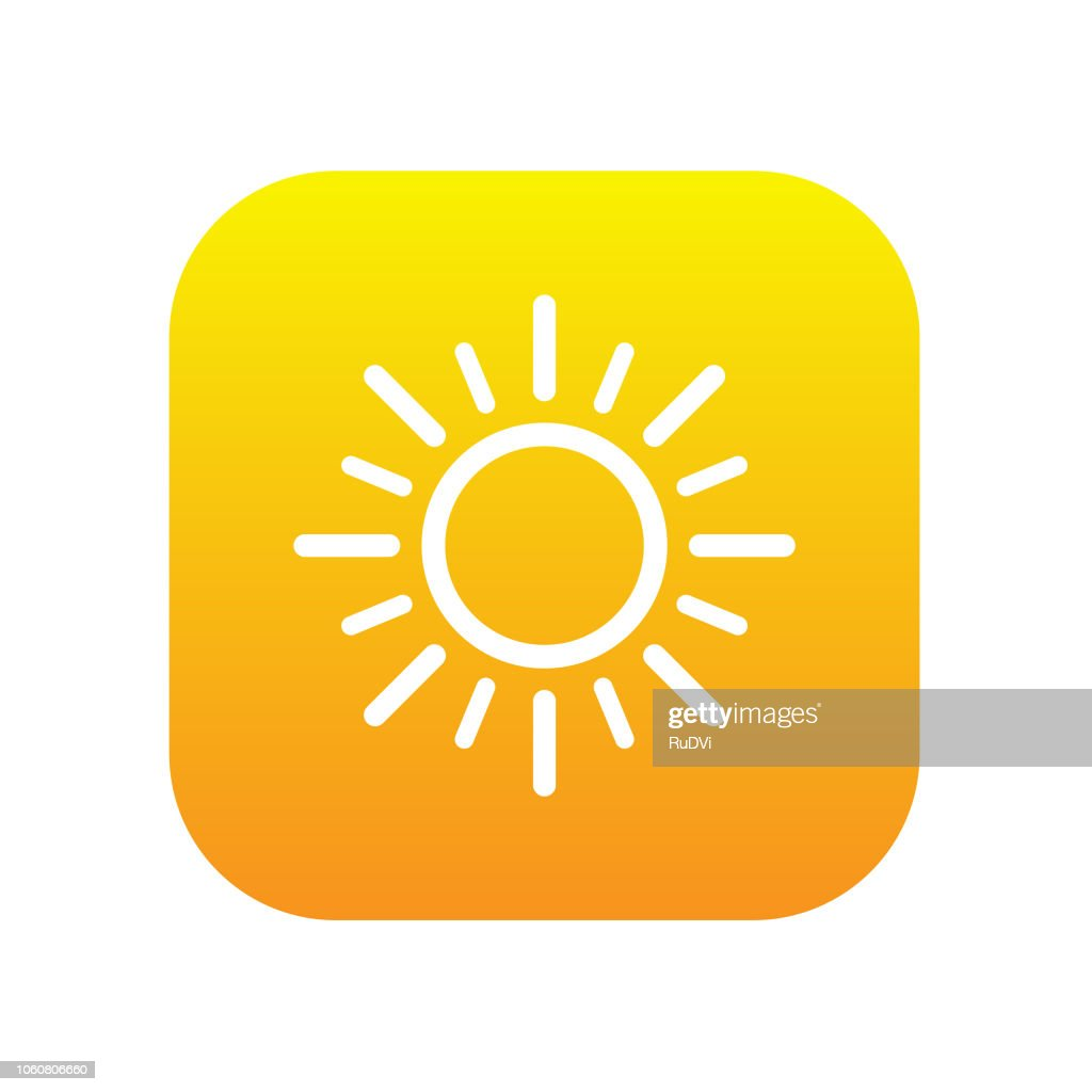 sunny weather icon vector