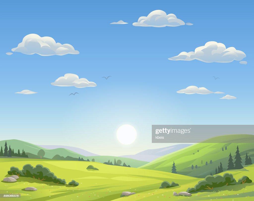 Sunrise Over Beautiful Landscape