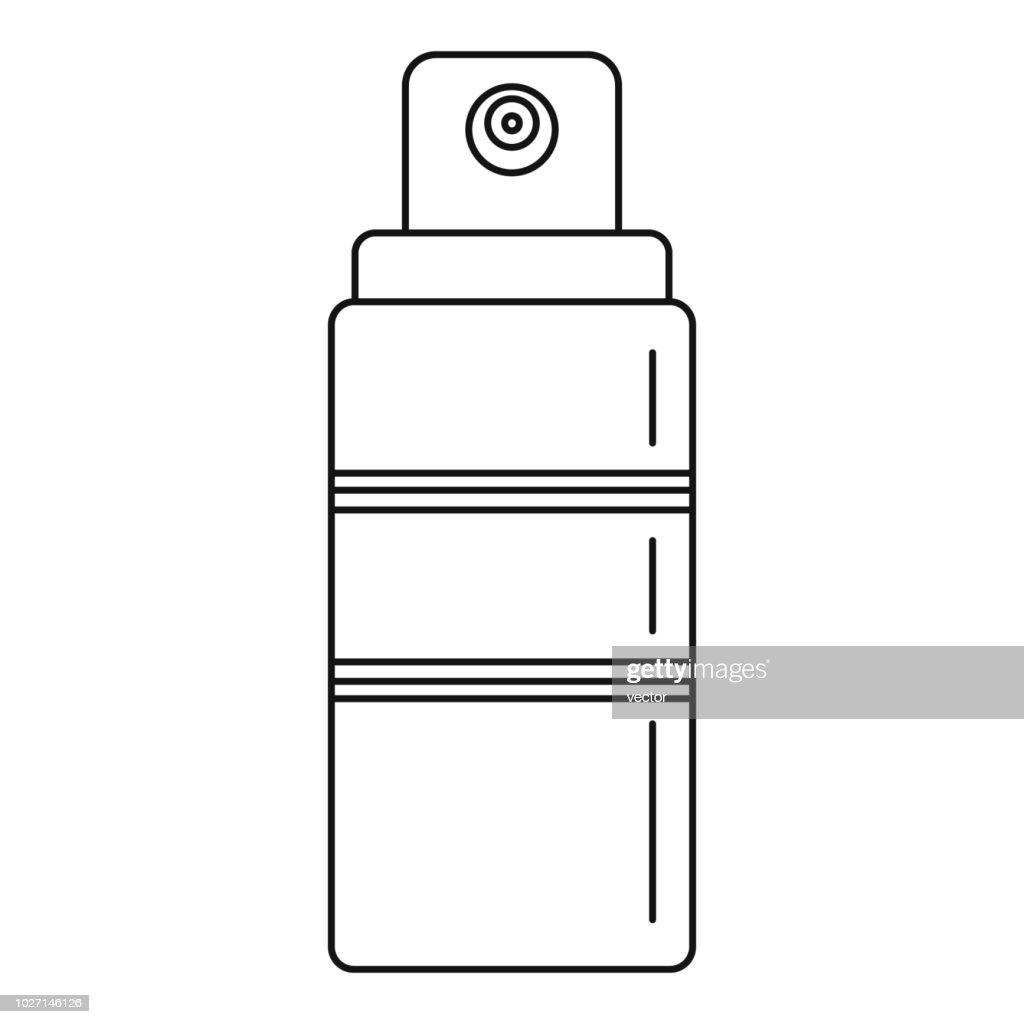 Sunscreen spray icon, outline style
