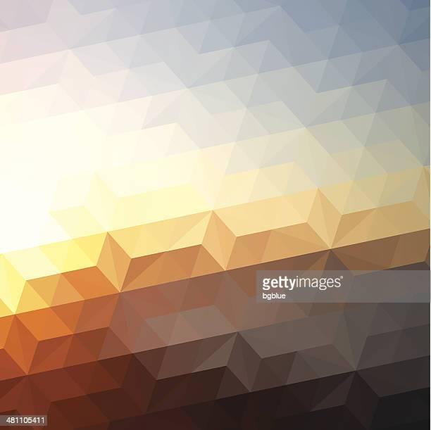 Sunset-Abstrakte Geometrische Hintergrund