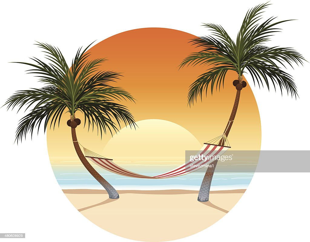 Sunset and Palm Tree Hammock
