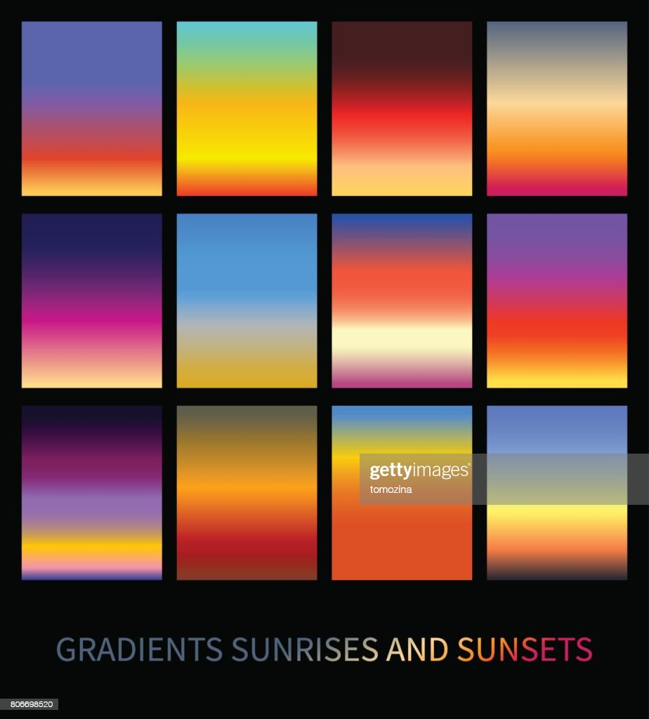 Sunset and sunrise gradients