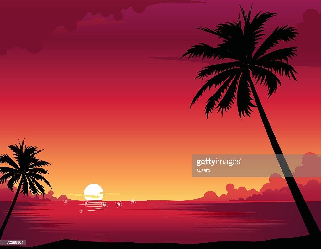 Sunset Beach : Stock-Illustration
