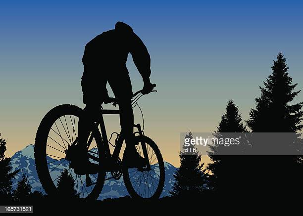 Der Sunset Mountain Bike Ride On Top Of The World