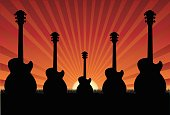 Sunset on Guitar Field