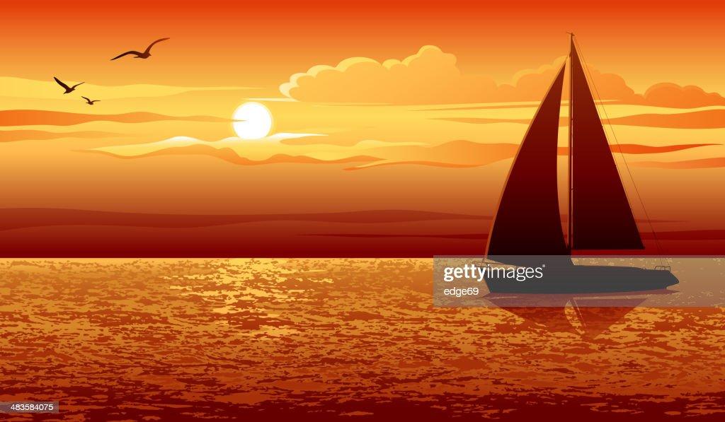 Sunset : stock illustration