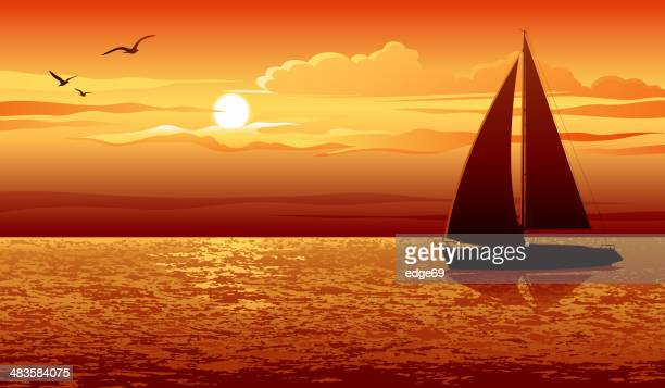 Image result for clip art beach sunset