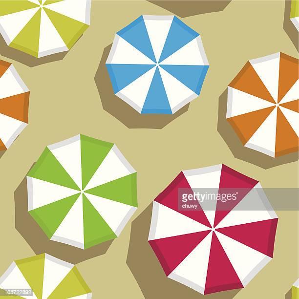 ilustraciones, imágenes clip art, dibujos animados e iconos de stock de sombrillas patrón sin costuras - chuwy