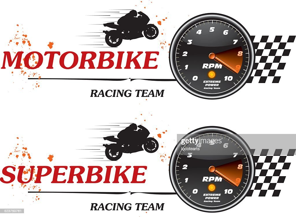 super bike tachometer banner