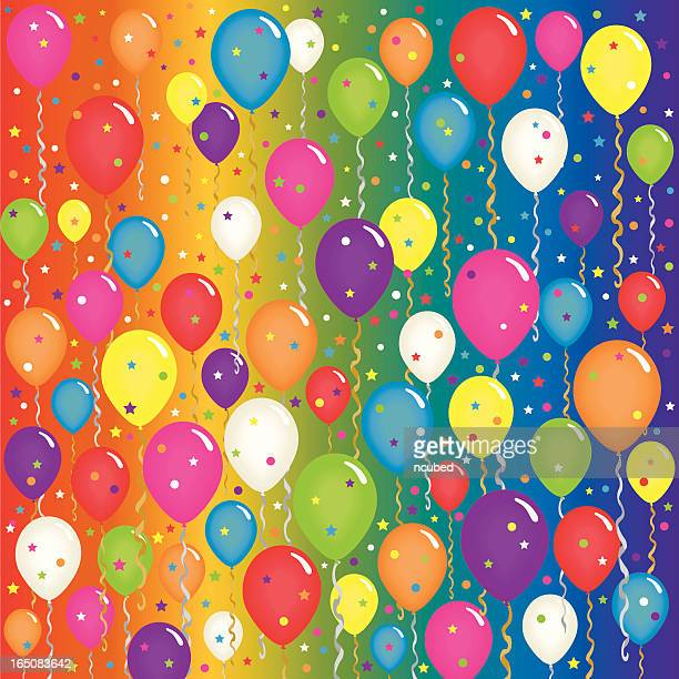 Super Celebration Balloon Party Background!
