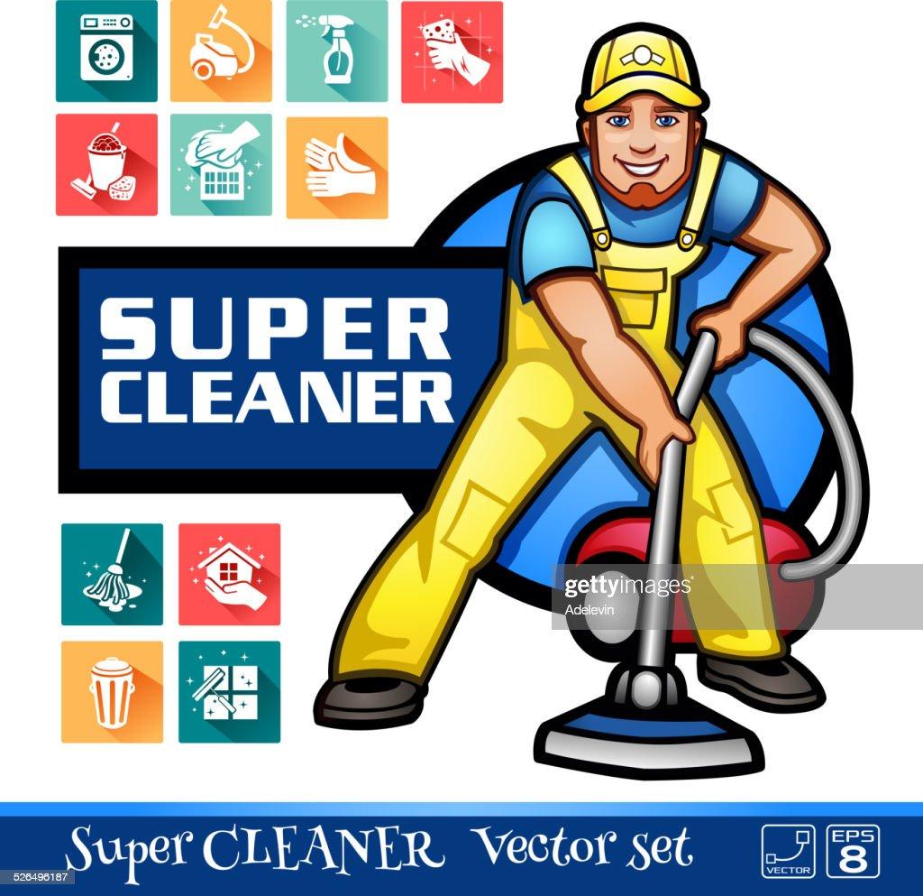 Super Cleaner worker