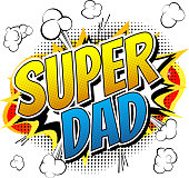 Super dad - Comic book style word.