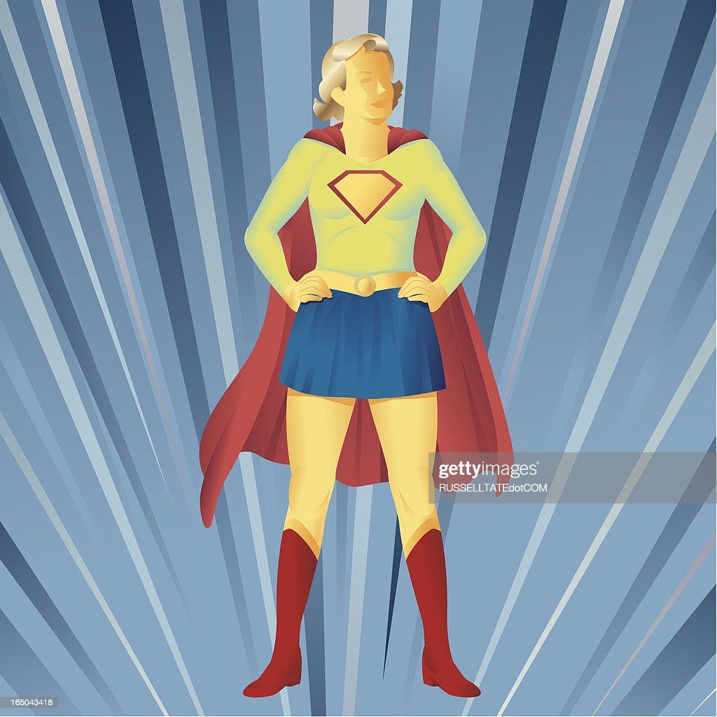 Super Girl Standing : stock illustration