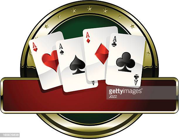 super goldie poker - ace stock illustrations, clip art, cartoons, & icons