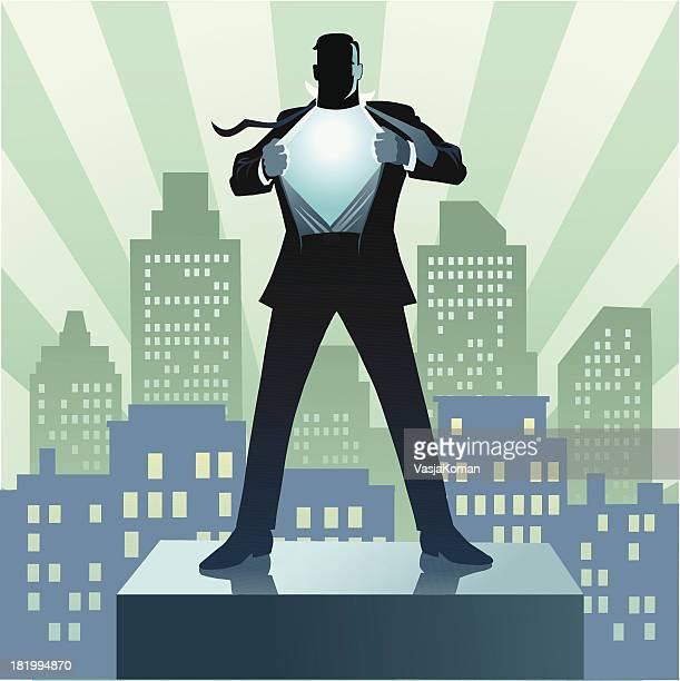 Super Héros Homme d'affaires et de la ville