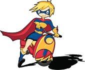 Super Hero Character on Motorbike
