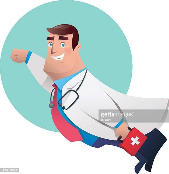 super hero doctor - sick person stock illustrations, clip art, cartoons, & icons