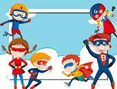 Super hero frame template
