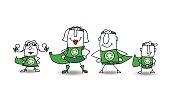 Super Hero green Family