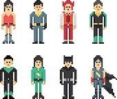 Super Hero Minimalistic Pixel Style