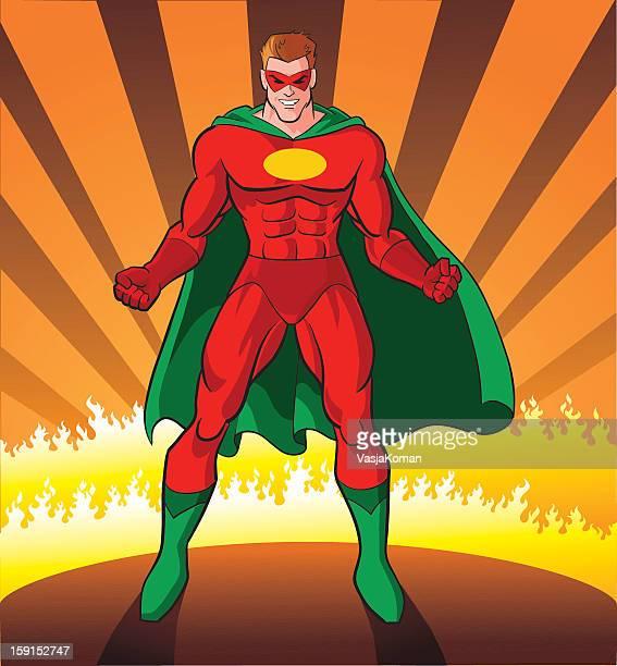 super-helden bereit für die herausforderung - nur erwachsene stock-grafiken, -clipart, -cartoons und -symbole