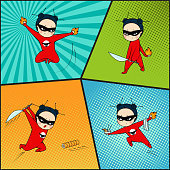 Super hero set, chef of japanese cuisine