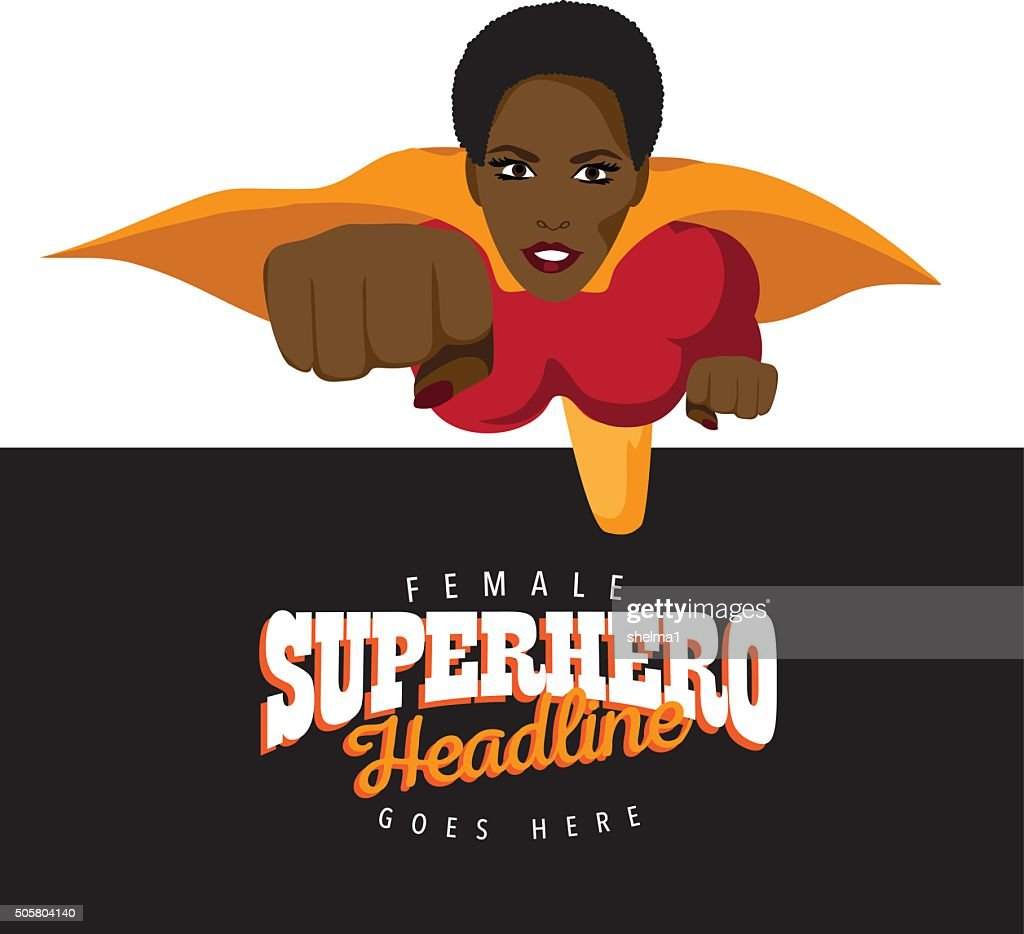 Super hero woman background