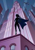Super Heroine in City